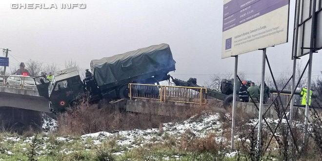 accident camion militar dej bistrita