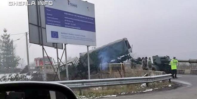 accident dej camion armata bistrita
