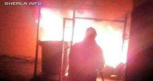 incendiu container gherla pompieri