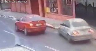 gherla accident depasire trotuar