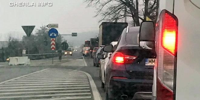 gherla coada masini accident