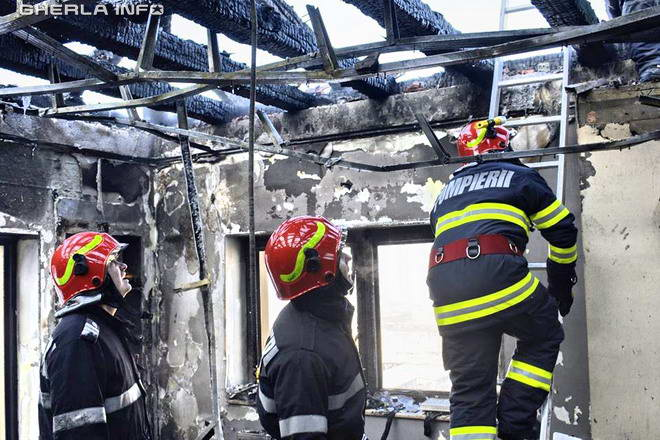 incendiu bloc floresti pompieri cluj