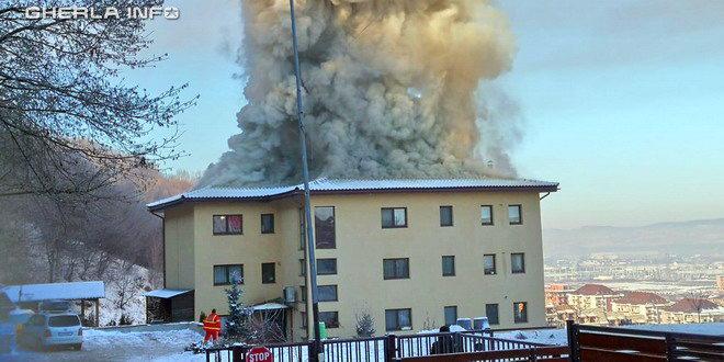 incendiu bloc floresti cluj
