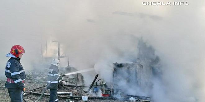 incendiu pompieri ocna dej