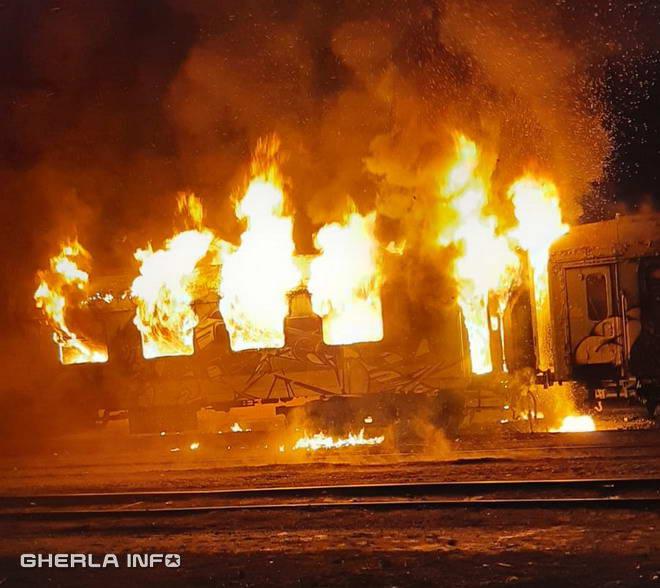 incendiu vagon tren cluj