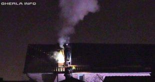 incendiu gherla pompieri acoperis