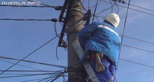 stalp curent electrica electrician