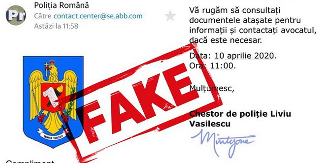email fake politie