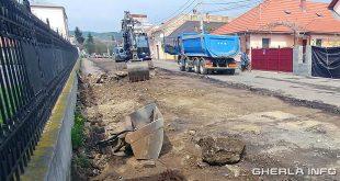 gherla strada fierarilor excavator