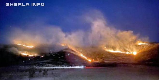 incendiu vegetatie deal sic szek