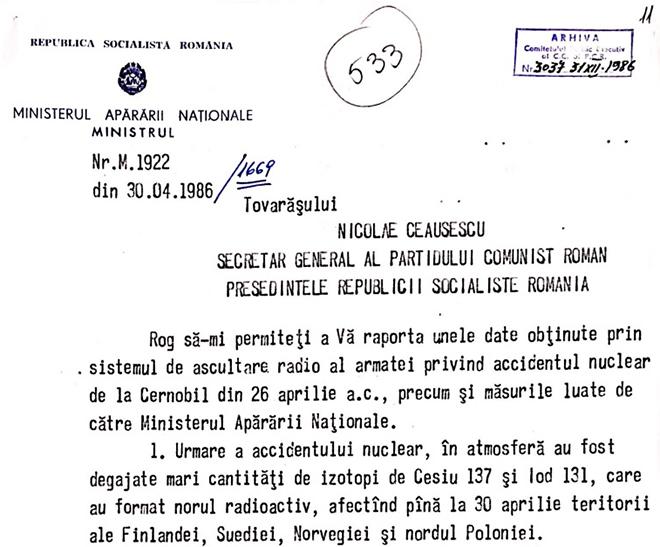 1986 cernobil ceausescu