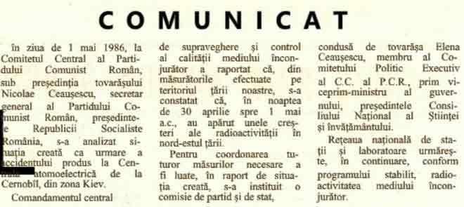 1986 anunt cernobil 3 mai ziar