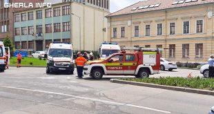 accident cluj ambulanta piata cipariu politie pompieri