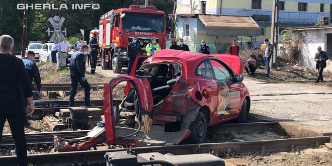 accident tren dej masina