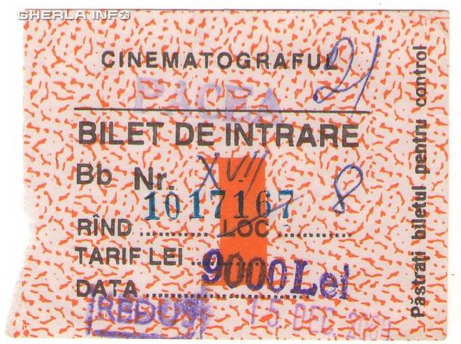 bilet cinema vechi