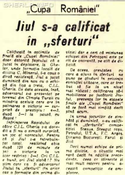 jiul petrosani cil gherla 1970
