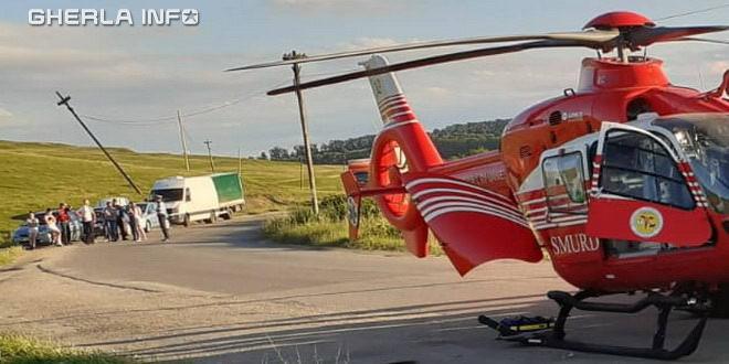 accident boldut ceanu mare cluj elicopter smurd