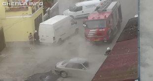 incendiu gherla pompieri masina