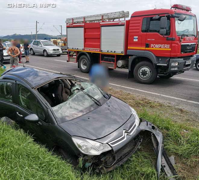 accident iclod pompieri