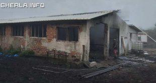 incendiu geaca grajd