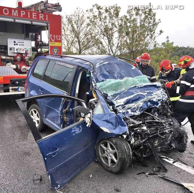 acciden tizvoru crisului pompieri isu cluj volkswagen touran camion cluj