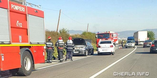 incendiu masina pompieri gherla dej