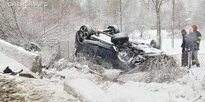 accident feleacu zapada iarna pompier rasturnat cluj