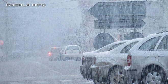 gherla ninsoare iarna zapada