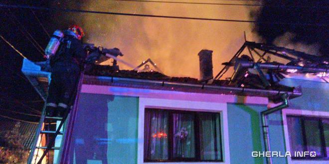 incendiu fizesu gherlii casa pompier