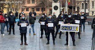 protest sindicat cluj prefectura