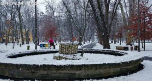 gherla parc iarna fantana