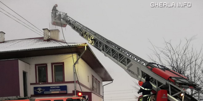 incendiu bontida gara pompieri scara