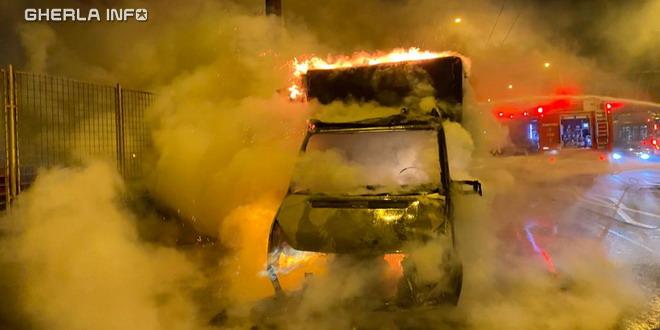 incendiu cluj masina