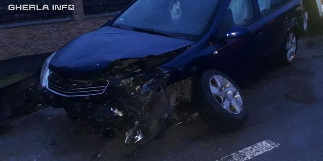 accident gherla masina stalp dejului