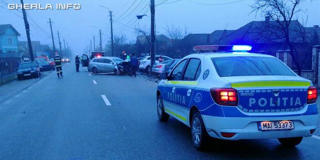 accident gherla politie strada dejului