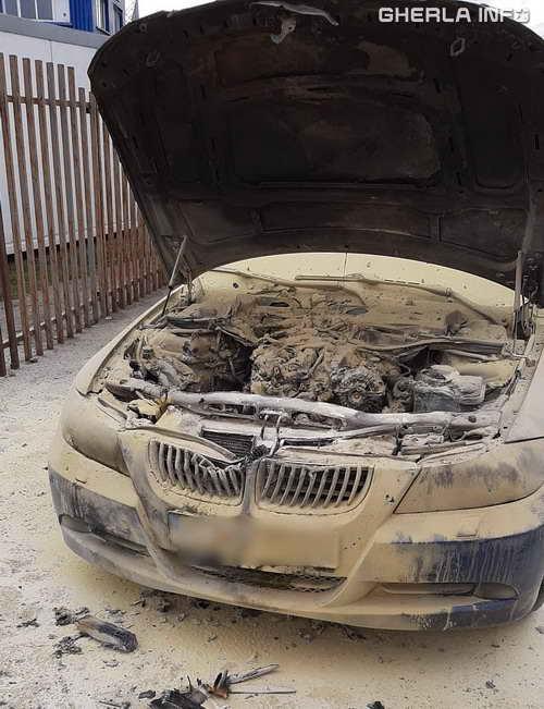 incendiu masina bmw cluj