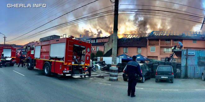 incendiu pensiune gherla pompieri ploscar