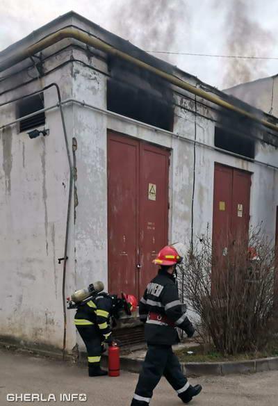 incendiu punct transformare dej spital