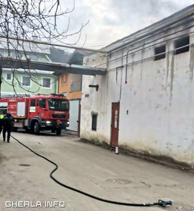 incendiu spital dej pompieri