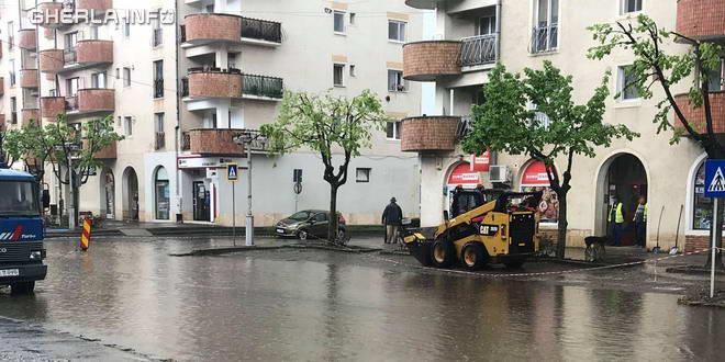 gherla inundatie centru