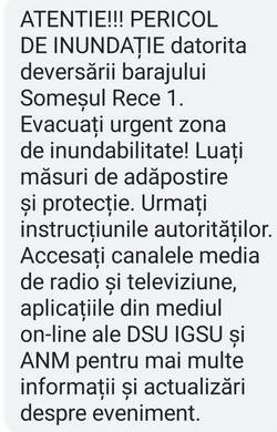 ro alert evacuare somesul rece cluj inundatie baraj