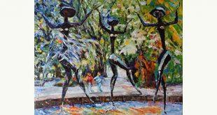 trei gratii pictura albin kaczka