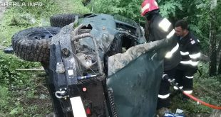 accident muntele rece rasturnat masina padure pompieri cluj