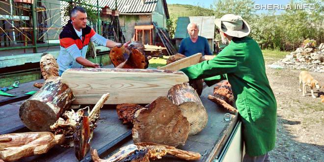 sacalaia pescuit lac peste sculptura ioan galgoczy