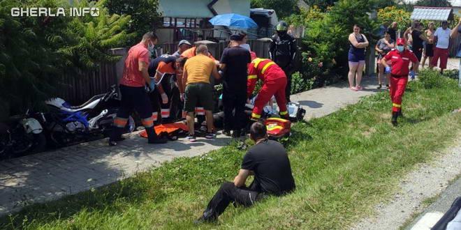 accident valcea bunesti motociclist cluj motocicleta
