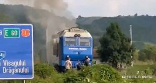 locomotiva incendiu cluj tren