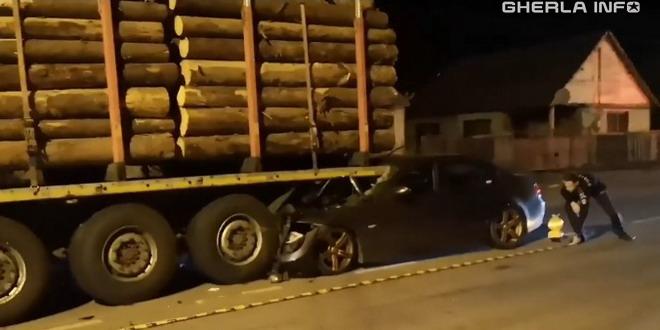 accident dej tir lemne masina salaj