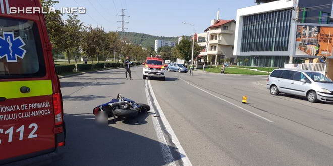 accident motocicleta cluj