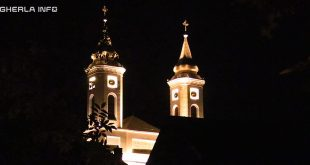 biserica franciscana gherla noapte lumina szamosujvar