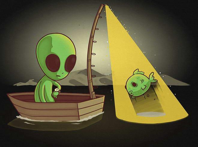 extraterestru pescuit